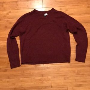 Divided by H&M maroon sweater